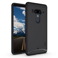 HTC U12 Plus Case Heavy Duty Extreme Protection Cover TPU Bumper Matte Black