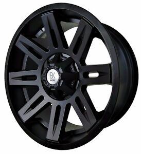 "BK903 20"" Alloy Wheels 6x139 Satin Black Wildtrak Isuzu Ranger L200 Navara"