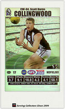 2008 AFL Teamcoach Trading Card J Squad Silver Captain CW4 Scott Burns (Coll.)