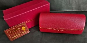 Cartier Glasses Case, Cleaning Cloth, Glasses Pouch and Box