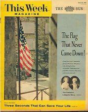 This Week Magazine June 30 1957 General Lafayette Story Ford Thunderbird Pepsi