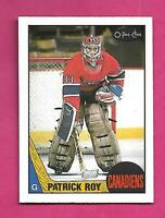 1987-88 OPC # 163 CANADIENS PATRICK ROY 2ND YEAR NRMT-MT CARD (INV# D2450)