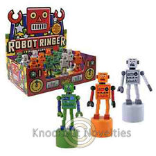 Robot Push Puppet Favor Party Gift Bag Fillers Prize Prizes One Finger Wooden