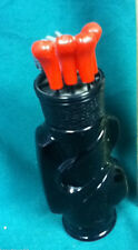 Golf clubs and bag golfing glass Avon cologne after shave bottle bottles 1 Wd9