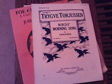 Trygve Torjussen: Bird's Morning Song, op 44/8, piano (Schmidt)