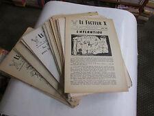 Le Facteur X... Revue mensuelle de variétés scientifiques..42 revues