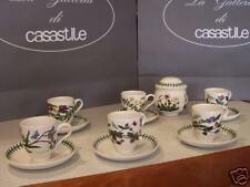 6 tazze caffè con piattino + ZUCCHERIERA Portmeirion Botanic Garden