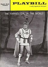 """Cyril Ritchard """"HAPPIEST GIRL IN THE WORLD"""" Janice Rule 1961 FLOP Playbill"""