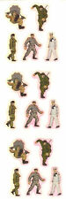 Sandylion Vintage WAR SOLDIERS MILITARY Stickers Set of 12 Strips