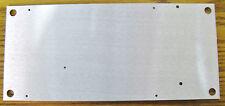 "5 Medium Flat Aluminum Plate Mounting Panel  11"" x 5"" x .125""  New with holes"