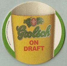 16 Grolsch On Draft  Beer / Bar Coasters