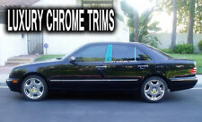 Mercedes E Class W210 Stainless Chrome Pillar Posts by Luxury Trims 1996-2002 6P