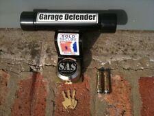 GARAGE DEFENDER MASTER DOOR LOCK MOTORBIKE SECURITY STOP BAR BLACK BIKE CAR JAM
