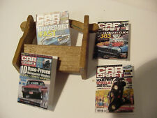 1/18 scale Wooden Magazine Rack w/4 magazines for your diorama/shop/garage