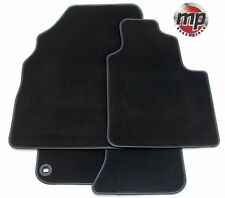 Black Luxury Premier Carpet Car Mats for MG TF 02-05 - Leather Trim