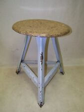 Old Garage Stool, Designer Stool, Wood bar Stools Metal Vintage Art Deco