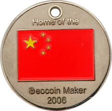 China Geocoin - Polished Nickel, Activated