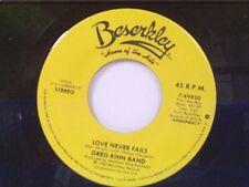 """GREG KIHN BAND """"LOVE NEVER FAILS / TALKIN TO MYSELF"""" 45 MINT"""