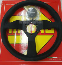 MOMO Monte Carlo Alcantara Suede 320mm Black Stitch Steering Wheel  - MCL32AL1B