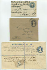 India, group of postal stationery to Nepal