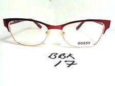 New GUESS Eyeglass Frame GU 2467 RD Red Metal (BBK-17)