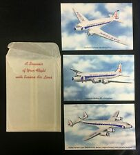 Eastern Airlines Souvenir Postcards DC 3 DC 4 Silverliner Constellation Unposted