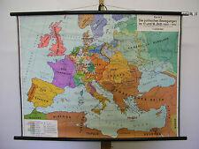 Murs Carte Mural Carte Histoire de l'Europe en 17. et 18.jh 101x75cm ~ 1959