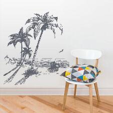 Wall Vinyl Sticker Kids Decal Palm Tree Beach Vacation Ocean Sea Sun Boat Z2772