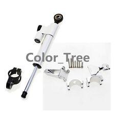 CNC Silver Steering Damper Bracket Mount Kit For Honda CBR600 F4i 99-04 01 00