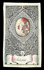 canivet pergamena miniatura 1700 S.ANTONIO dA PADOVA