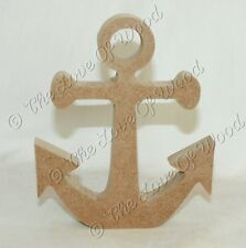 Free standing ANCHOR wooden craft shape MDF 18mm thick
