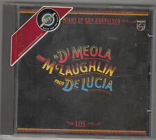 AL DI MEOLA / J. McLAUGHLIN / P. DE LUCIA - friday night in san francisco CD
