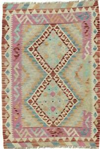 Kelim Afghan 118x81 Orientteppich Teppich Handgewebt