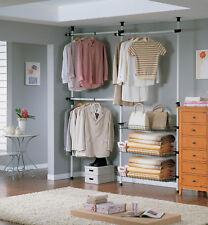 SoBuy® Telescopic Wardrobe Hanging Rail, Storage Shelving Organiser, FRG34, UK
