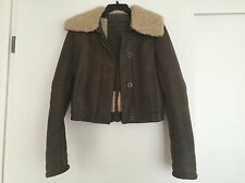 Reed Krakoff Green Leather Shearling Cropped Bomber Jacket 4 $3,000