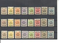 Memel, Litauen 1923, Einzelmarken aus MiNrn: 206 - 229 *, ungebraucht m. Falz *