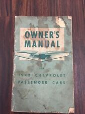 1948 Chevrolet Passanger Car Owners Manual
