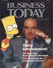 Business Today Spring 1992 Rupert Murdoch, Bart Simpson 081117nonDBE