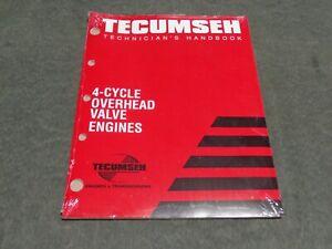 Tecumseh Engine 740043 4-CYCLE OVERHEAD VALVE ENGINE MANUAL TECHNICIANS HANDBOOK