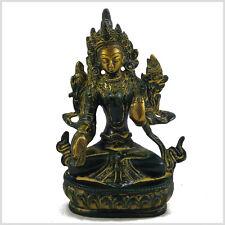 Weiße Tara Buddha 15 cm Messing Tibet Monju Grüne Tara Nepal Buddhismus Weisheit