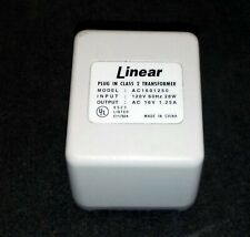 Linear Plug In Class 2 Transformer 16V at 1.25A - Quantity 4 - Free Shipping