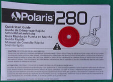Polaris 280 Pressure Side Auto Pool Cleaner Quick Start Guide & Red Restrictor