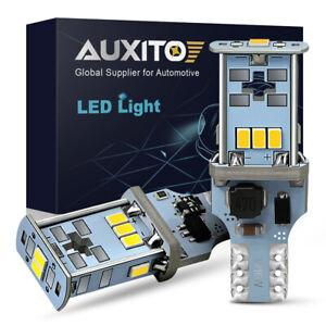 2 x Bright White Canbus LED Bulb For Car Backup Reverse Light 912 921 T15 W16W