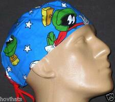 MARVIN THE MARTIAN STANDING POSES SCRUB HAT / RARE / FREE CUSTOM SIZING!