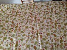 2.3 metres Sanderson linen union fabric Woodland Berries in rosehip/moss