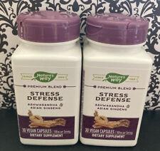 2 Natures Way Stress Defense Ashwagandha & Asian Ginseng Exp 3/21 - SEALED