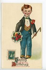 Antique Birthday Postcard Early ALFRED E NEUMAN Character ca. 1910s