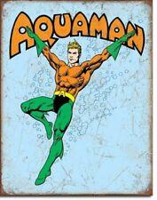"Aquaman  tin sign  DC comics Justice League  12x16"""