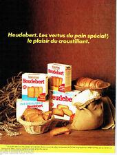 PUBLICITE ADVERTISING  016  1981  HEUDEBERT  biscottes pain grillé
