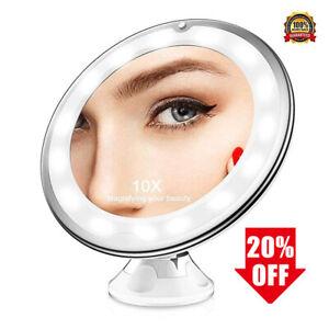 10-fach Vergrößerung LED Kosmetikspiegel Beleuchtet Schwenkbar Saugnapf Spiegel